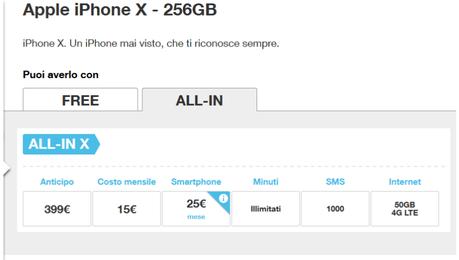 Ufficiale – Vediamo come acquistare l' iPhone X con Tre e Wind
