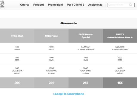 iPhone X [Ufficiale] – Come acquistarlo con Tre e Wind