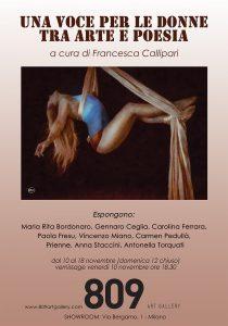 Una voce per le donne tra Arte e Poesia: a Milano presso 809 Art gallery una mostra contro la violenza sulle donne!