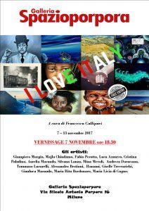 I LOVE ITALY: a Milano presso la galleria Spazioporpora l'artista Luca Azzurro