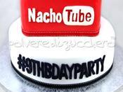 Torta decorata ispirata Youtube compleanno bimbo appassionato