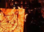 solo Halloween. Svizzera rape zucche illuminano