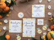 WEDDING SET: Agrumi tema fresco estivo delle partecipazioni Riccardo Anna