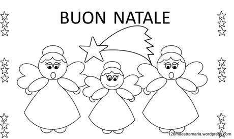 Poesie Di Natale Sugli Angeli Per Bambini.Biglietto Con Poesia E Angeli Da Colorare Paperblog