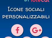 Icone sociali personalizzabili