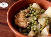 Filetti pollo, piselli patate pentola slow cooker