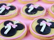 Biscotti pasta frolla decorati zucchero baby Minnie compleanno bimba
