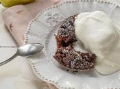 Torta cuore fondente cioccolato pere
