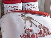 Catherine Lansfield copripiumino, motivo: renna Natale, colore: multicolore