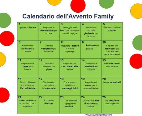 Calendario Dellavvento Da Stampare Per Bambini.Calendario Dell Avvento Family Da Stampare Paperblog