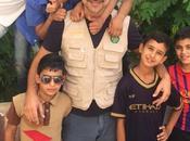 Beppe Convertini prima linea bambini siriani