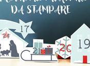 Calendario dell'avvento stampare: villaggio Natale