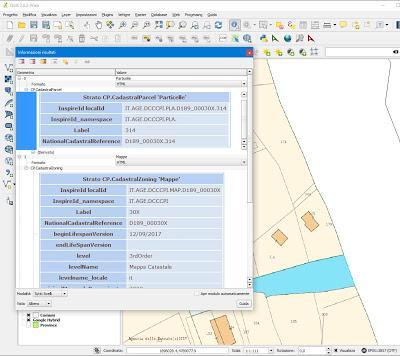 Novità epocale. Cartografia catastale visualizzabile liberamente e gratuitamente su GIS con servizio WMS.