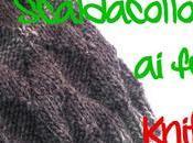 Scaldacollo uomo ferri Diagonal Stripes knitted cowl men, free pattern