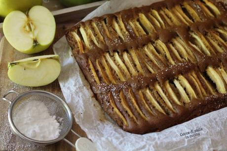 Torta di mele senza glutine,latte e lievito