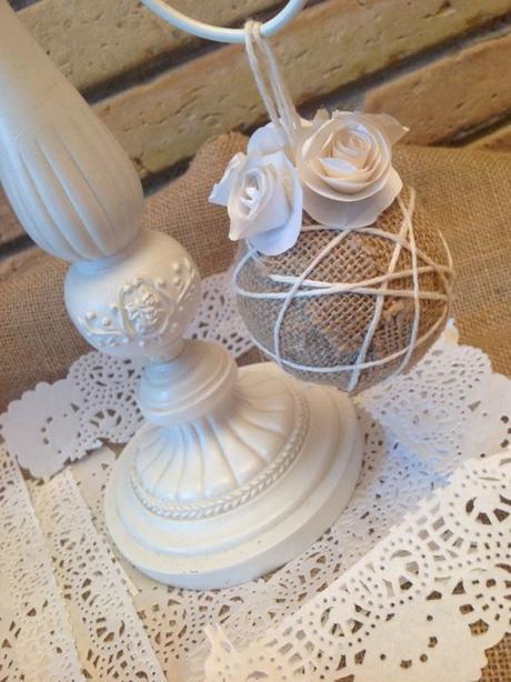 Blogmas #3 - 8 idee per palline di Natale Shabby