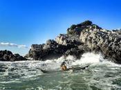 training around Palmaria Island...