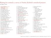 progetti incompiuti Kubrick