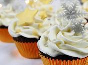 Cupcake decorati fiocchi neve stelle dorate compleanno inverno