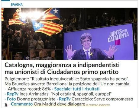 Elezioni Catalogna: vittoria agli indipendentisti, è ora di trattare con Madrid