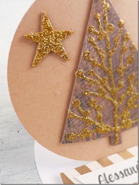 [Calendario dell'Avvento] Progetto faidate 22 Segnaposto di Natale Easel Card #Sizzix