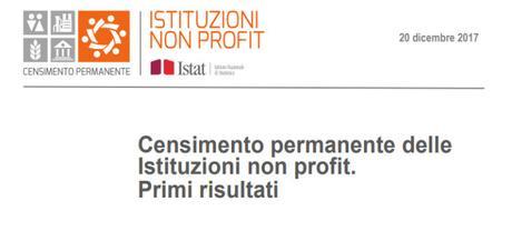 ISTAT, Censimento permanente delle istituzioni non profit. Primi risultati, 20 dcembre 2017