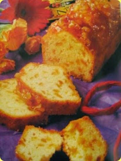 Torta con scorza d'arancia candita