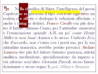 L'intelligenza cosciente-oggettiva del poeta Capricorno.