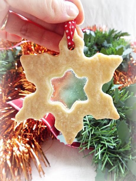 Biscotti di vetro da appendere all'albero - Natale 2017