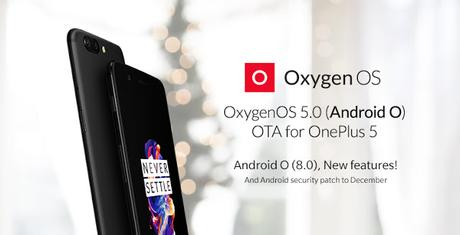 OnePlus 5 si aggiorna ad Android 8.0 Oreo