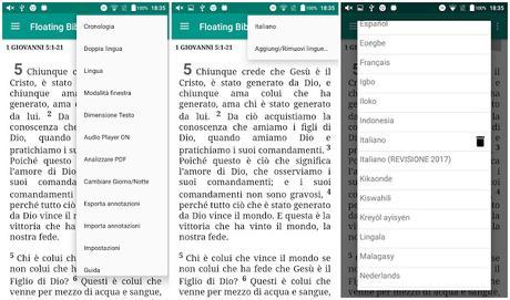 Floating Bible introduce la nuova Bibbia in italiano