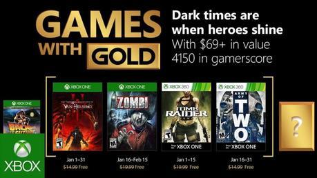 Games with Gold: i giochi di gennaio per Xbox One e Xbox 360