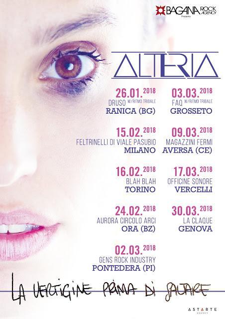 Nuove date per il tour di Alteria