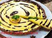 Crostata cacao crema all'arancia