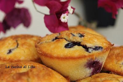 Muffin: Blueberry Muffin (ovvero Muffin ai mirtilli di Joe Bastianich)