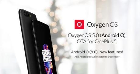 OnePlus 5 riceve l'aggiornamento alla OxygenOS 5.0 basata su Android 8.0 Oreo