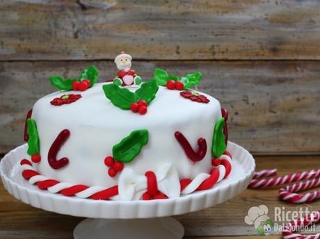 Torta di Natale in pasta di zucchero