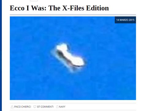 Le ammissioni del Pentagono circa un loro programma di studio sugli UFO  solo Fake News?, un tentativo per allontanarci dalla verità?…ma fatemi il piacere.