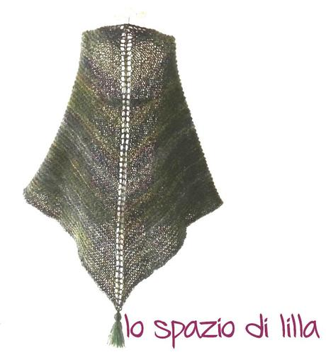 lilla's tutorials: scialle in mohair ai ferri Softy / Knitted mohair shawl Softy, free pattern