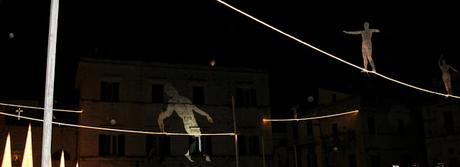 funambolo, equilibrio, luci d'artista, Ruvo di Puglia, Natale 2017
