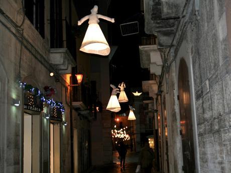 Luci d'Artista, via Cattedrale, Ruvo di Puglia, centro storico, borgo antico,