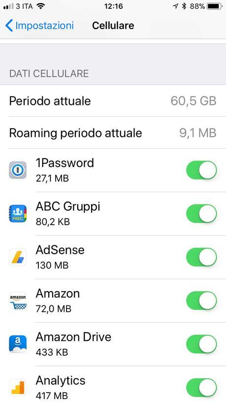 Come non superare soglie dati operatore mobile con iPhone