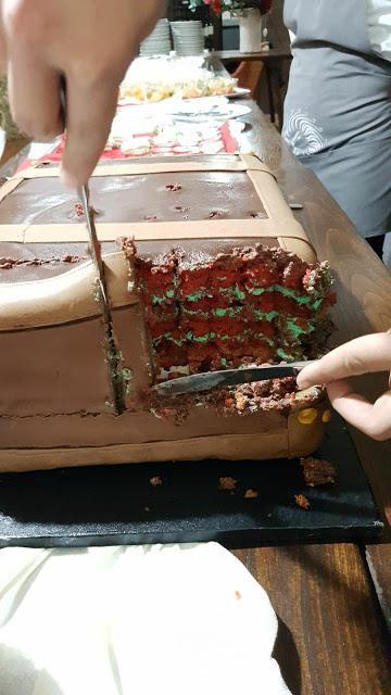 Mi è sembrato di vedere una slitta...torta Babbo Natale 18 anni