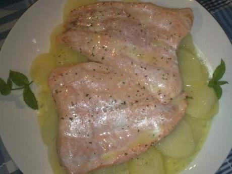 Filetti di salmone alla menta