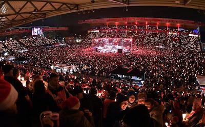 FC Union Berlin, Weihnachtssingen 2017 - Stadion An der Alten Försterei(Video)