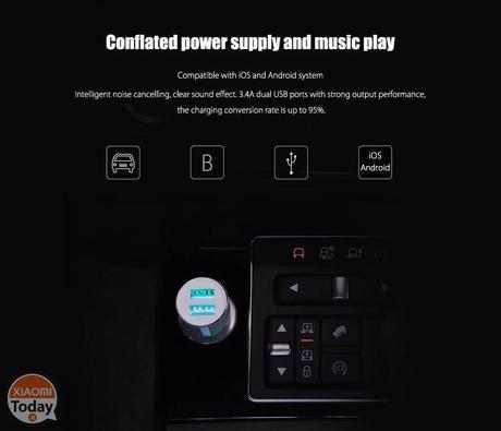 Offerta – Xiaomi ROIDMI 3S Caricatore Bluetooth per Auto a 8€