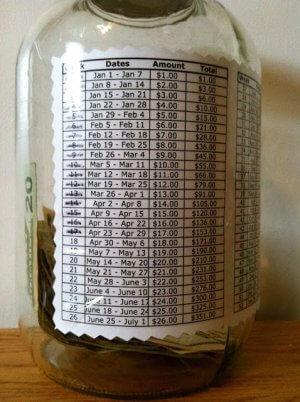 Come risparmiare in modo facile 1378€ in 52 settimane