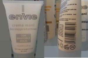 Envie: crema mani dermoprotettiva a rischio allergico