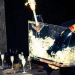 champagne foto capodanno beach