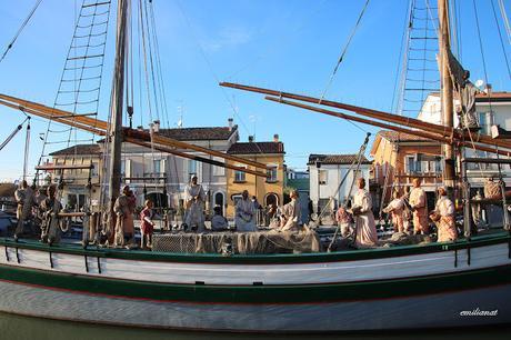 Presepe galleggiante della marineria a Cesenatico